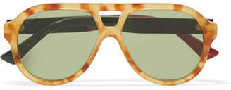 Gucci Oversized Aviator-style Acetate Sunglasses