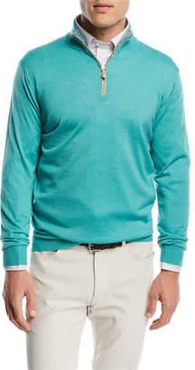 Peter Millar Wool-Silk Half-Zip Sweater