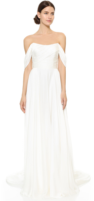 Theia Delphine Off Shoulder Gown $1,995 thestylecure.com