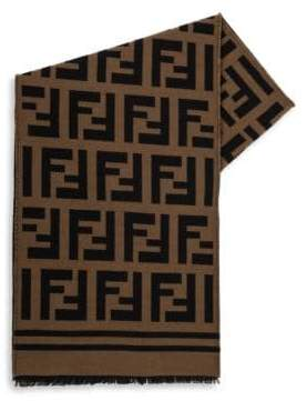 Fendi Logo Print Scarf