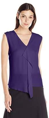 9a9a4367b73740 Lark & Ro Amazon Brand Women's Cascade Ruffle Front Top