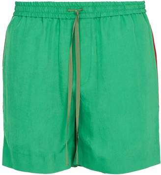 Gucci Logo-Web twill shorts