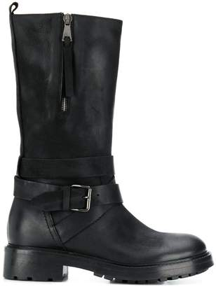 Strategia zip-up mid-calf boots