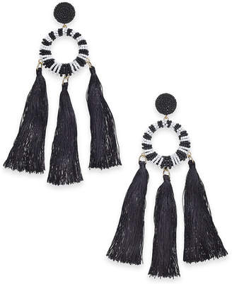 INC International Concepts Trina Turk x I.n.c. Beaded Multi-Tassel Drop Earrings, Created for Macy's