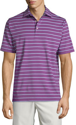 Peter Millar Tradeshow Striped Short-Sleeve Jersey Polo Shirt $85 thestylecure.com
