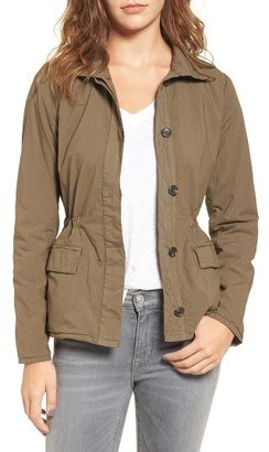 Women's James Perse Jersey Lined Surplus Jacket $395 thestylecure.com