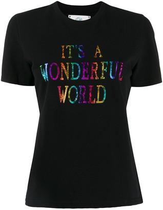 Alberta Ferretti It's A Wonderful World print T-shirt