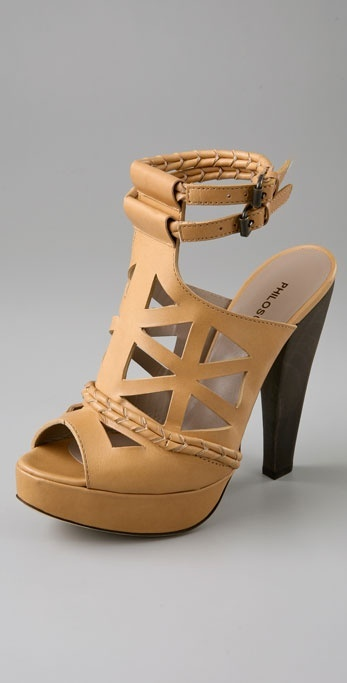 Philosophy Di Alberta Ferretti Platform Sandals with Braids