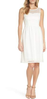 Adrianna Papell Embroidered Diamonds Fit & Flare Dress