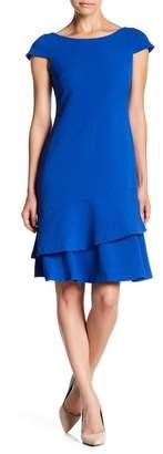 Eliza J Kors Crepe Cap Sleeve Dress