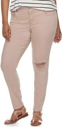 So Juniors' Plus Size SO Low-Rise Twill Jeggings