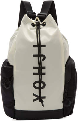 Y-3 Y 3 Off-White and Black Mini Yohji Letters Backpack