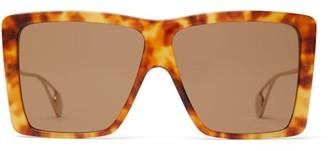 Gucci Oversized Square Frame Sunglasses - Mens - Tortoiseshell
