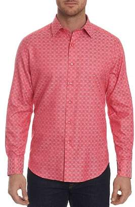 Robert Graham Diamante Tonal-Print Classic Fit Shirt
