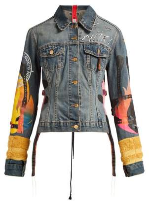 Noki - Customised Denim Jacket - Womens - Denim Multi