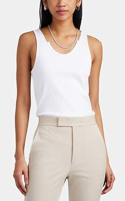 Helmut Lang Women's Rib-Knit Cotton Tank - White