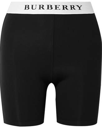 Burberry Stretch-jersey Shorts - Black
