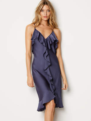 Victoria's Secret Dream Angels Satin Ruffle Slip Dress