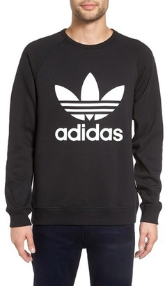 Men's Adidas Originals Slim Fit Trefoil Logo Crewneck Sweatshirt $60 thestylecure.com