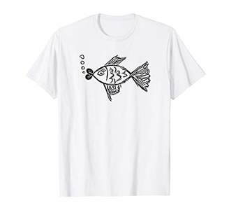 Fish T-Shirt Cute Funny Fish Lover Fishing Fisherman Gift