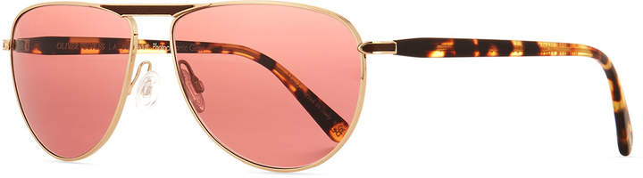 Oliver Peoples Men's Conduit Street Metal Sunglasses, Gold
