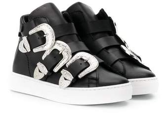 DSQUARED2 buckle straps hi-top sneakers