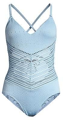 Robin Piccone Women's Perla V-Neck One-Piece Swimsuit