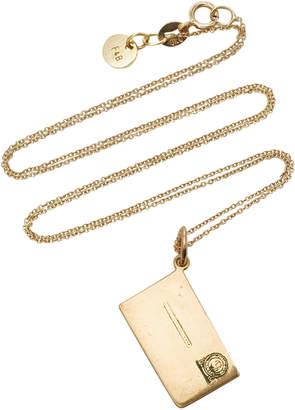 Fox and Bond Vintage 14K Gold Envelope Pendant Necklace
