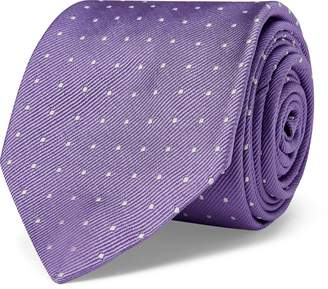 Ralph Lauren Polka-Dot Silk Repp Narrow Tie