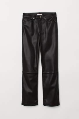 H&M Faux Leather Pants - Black