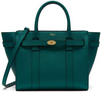 Mulberry Small Zipped Bayswater Ocean Green Small Classic Grain