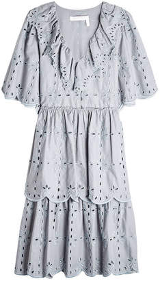 See by Chloe Cotton Dress with Broderie Anglaise
