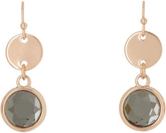 Small Disc and Crystal Drop Earring