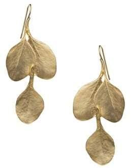 Kenneth Jay Lane Leaf Hook Earrings