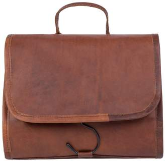 Dopp MAHI Leather - Leather Hanging Wash Toiletry Bag Kit In Vintage Brown With Hook
