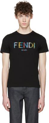 Fendi Black Stripe Logo T-Shirt $340 thestylecure.com