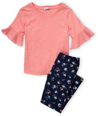 Splendid Toddler Girls) Two-Piece Ruffle Short Sleeve Tee & Leggings Set