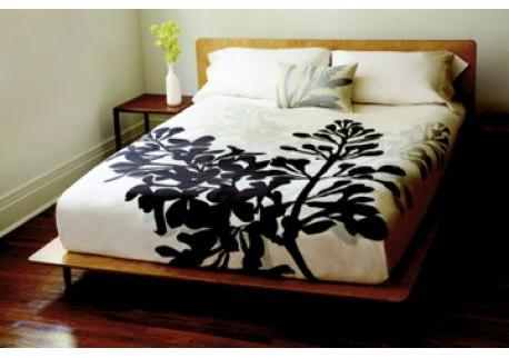 Amenity Bedding Bloom Organic Cotton Duvet Cover - Cream and Cocoa
