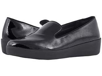 FitFlop Audrey Crinkle Patent Smoking Slippers