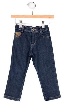 Fendi Boys' Zucchino-Trimmed Five-Pocket Jeans