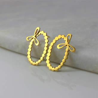 Leila Swift Dotty Oval Earrings