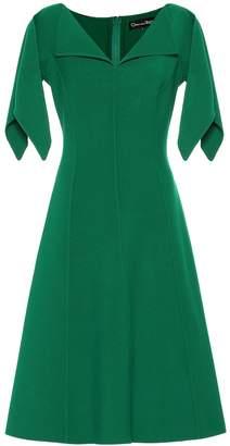 Oscar de la Renta Stretch wool midi dress