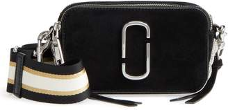 Marc Jacobs Snapshot Leather Pave Chain Trim Crossbody Bag
