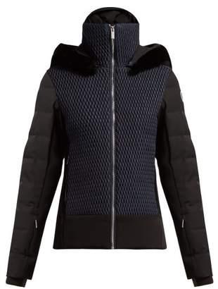 Athena Fusalp Quilted Panel Ski Jacket - Womens - Navy Multi