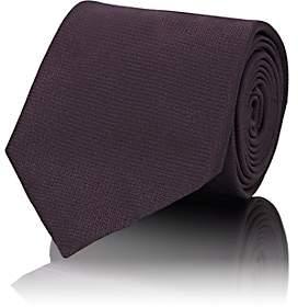 Brioni Men's Mini-Chevron-Weave Silk Necktie - Navy