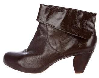 Frye Patent Leather Ankle Boots
