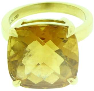 Tiffany & Co. Sparklers 18K Yellow Gold Citrine Ring Size 5