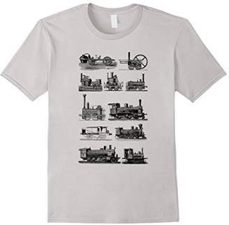 Steam Engine Train T-Shirt. Steam Train Locomotive Tee
