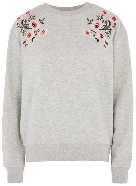TopshopTopshop Embroidered sweat top