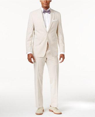 Lauren Ralph Lauren Brown & Cream Seersucker Ultraflex Pure Wool Classic-Fit Suit $550 thestylecure.com
